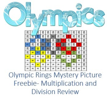 "Mystery Picture ""Olympic Rings"" for Multiplication and Div"