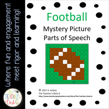 Mystery Picture Parts of Speech Football