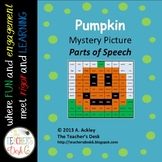 Mystery Picture Parts of Speech Halloween Pumpkin