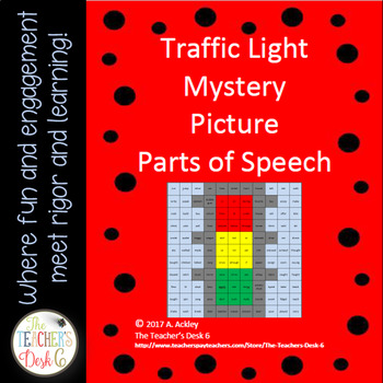 Mystery Picture Parts of Speech Traffic Light