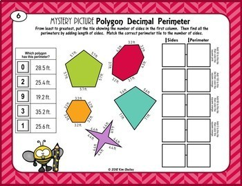 Mystery Picture Polygon DECIMAL Perimeter