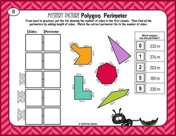 Mystery Picture Polygon Perimeter