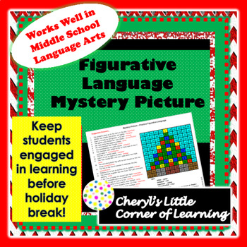 Mystery Picture - Practice Figurative Language - Christmas Tree