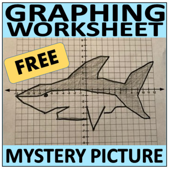 Mystery Picture (Shark) - Plotting Points on a Coordinate Plane