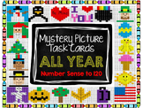 Mystery Picture Task Cards ALL YEAR - Number Sense to 120