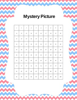 Mystery Picture Using 100 Chart