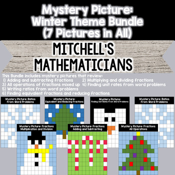 Mystery Picture Winter Theme BUNDLE