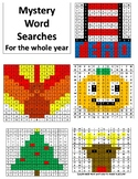 Mystery Picture Word Searches for the Whole Year