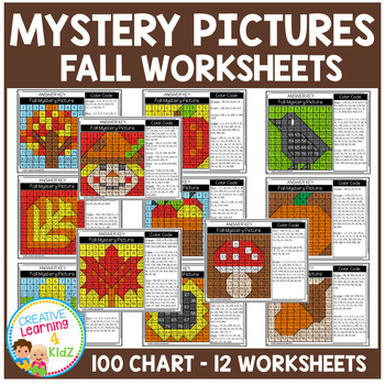 Mystery Picture Worksheets: Fall 100 Chart