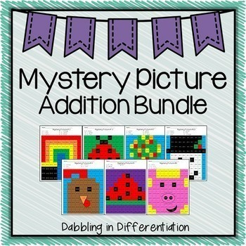 Addition Mystery Picture Bundle {75 Addition Pages}