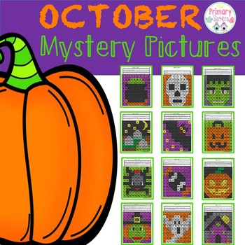 Mystery Picture color the 100 chart October edition