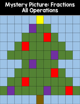 Mystery Picture for Fraction Review All Operations tree