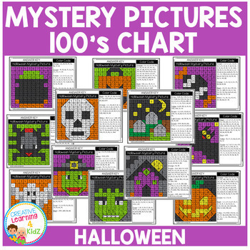Mystery Pictures 100's Chart: Halloween