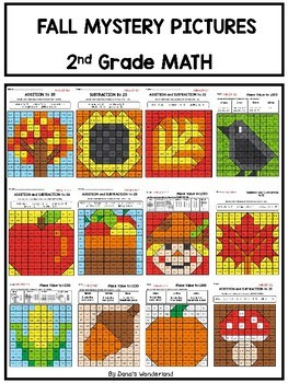 2nd Grade Math Fall Mystery Pictures