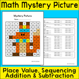 Free Downloads - Winter Math Fox Mystery Picture Math Center Activity