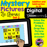 Mystery Pictures Addition and Subtraction Digital Boom Cards Set 2