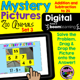 Mystery Pictures Addition and Subtraction Digital Boom Cards Set 3