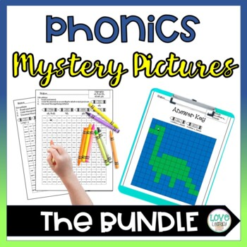 Mystery Pictures Bundle: Short Vowels, Silent E, and Long Vowels