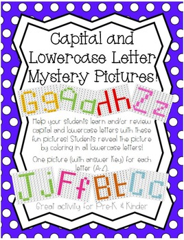 Mystery Pictures Capital and Lowercase Letters A-Z