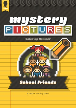Mystery Pictures: Color By Number Writing Activity Back to School Friends BTS