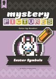 Mystery Pictures: Color By Number Writing Activity Easter Symbols