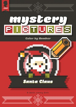 Mystery Pictures: Color By Number Writing Activity Christmas Santa Claus