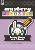 Mystery Pictures: Color By Number Writing Activity Easter
