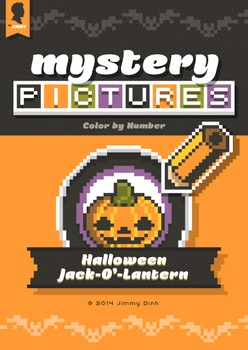Mystery Pictures: Color By Number Writing Activity Halloween Jack-O-Lanterns