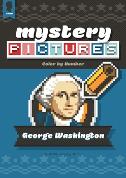 Mystery Pictures: Color By Number Writing Activity Patriotic George Washington