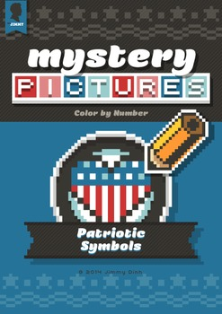 Mystery Pictures: Color By Number Writing Activity Patriotic Symbols