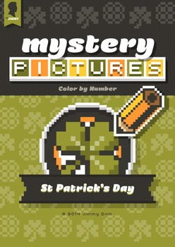 Mystery Pictures: Color By Number Writing Activity St Patrick's Day