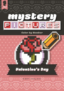 Mystery Pictures: Color By Number Writing Activity Valentine's Day