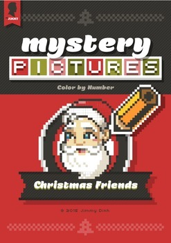 Mystery Pictures: Color By Number Writing Activity Christmas Friends