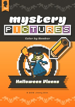 Mystery Pictures: Color By Number Writing Activity Halloween Vixens