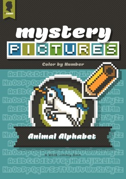 Mystery Pictures: Color By Number Writing Activity Animal Alphabet A-Z