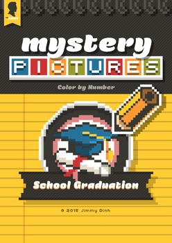 Mystery Pictures: Color By Number Writing Activity Back to School Graduation BTS