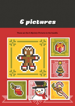 Mystery Pictures: Color By Number Writing Activity Christmas Symbols