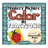 Mystery Pictures - Color by Fractions - 20 Worksheets with 2 Printing Options!