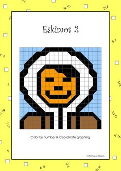 Mystery Pictures: Color by number & Coordinate graphing – Eskimos 2: Eskimo
