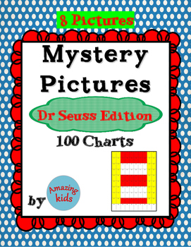 Mystery Pictures – Dr Seuss Edition - Math 100 Chart Numbers