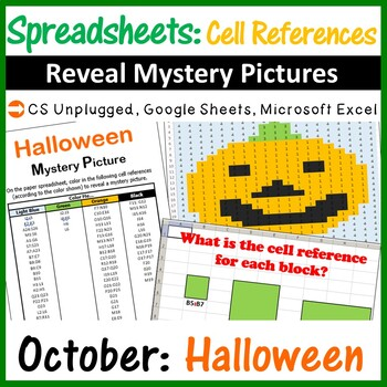 Mystery Pictures - Excel Spreadsheets Cell References (Paper Exercise)