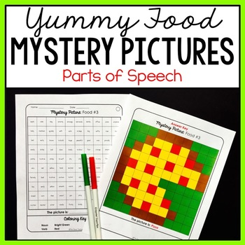Mystery Pictures Food - Parts of Speech
