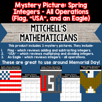 Mystery Pictures For Integers (All Operations)