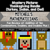 Mystery Pictures For Thanksgiving ten combinations, doubles, and doubles plus 1