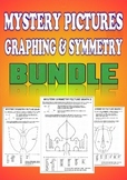 Mystery Pictures, Graphing & Symmetry Math Bundle - 8 Pictures