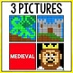 Mystery Pictures Multiplication (Medieval)