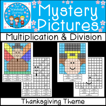 Mystery Pictures  Multiplication and Division Thanksgiving Theme