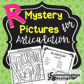 Articulation Mystery Pictures for R Freebie