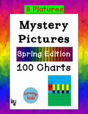 Mystery Pictures - Spring Edition - Math 100 Chart Numbers