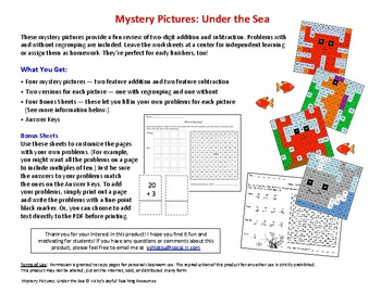 Mystery Pictures: Under the Sea